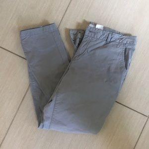 Cropped light grey Chino Pants